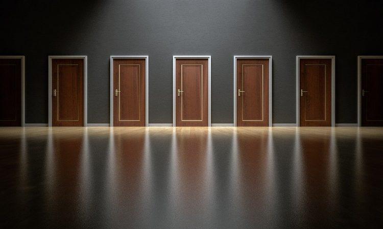 Let's choose a swanky door!
